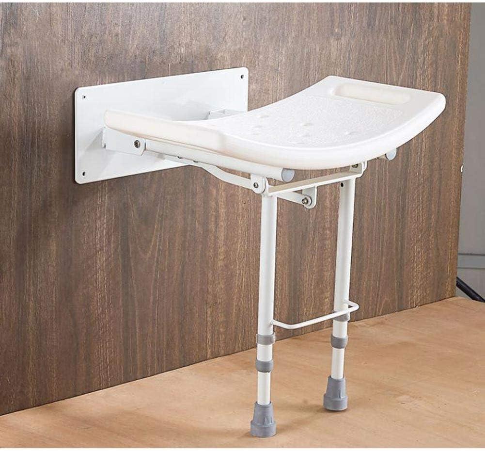 Beauty Aluminum Alloy Foldable Shower Stool,Non-Slip Bath Stool for The Elderly and Pregnant Women Weight Bearing 115kg