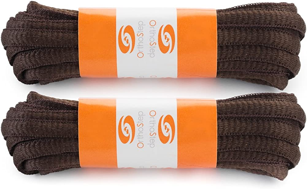 OrthoStep Oval Athletic Shoelaces 2 Pair Pack Made in the USA