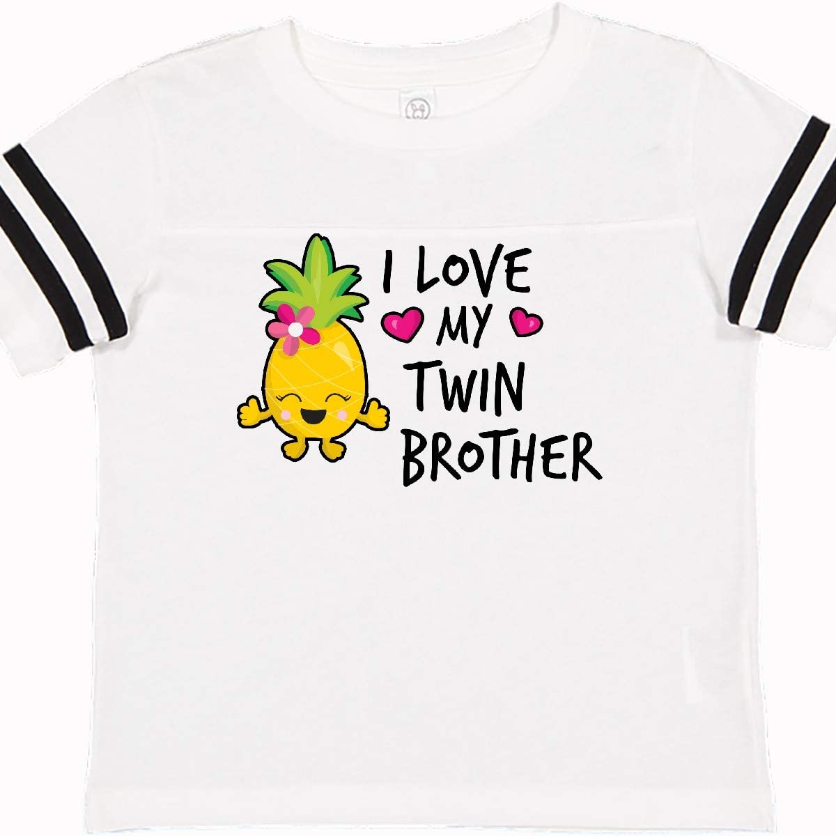 inktastic I Love My Twin Brother with Pineapple Toddler T-Shirt