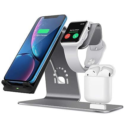 Cargador Inalámbrico, Soporte De Aluminio 3 En 1 para Apple ...
