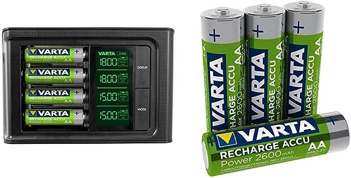 Varta Lcd Smart Charger With 4x 56706 Readytouse Aa Elektronik