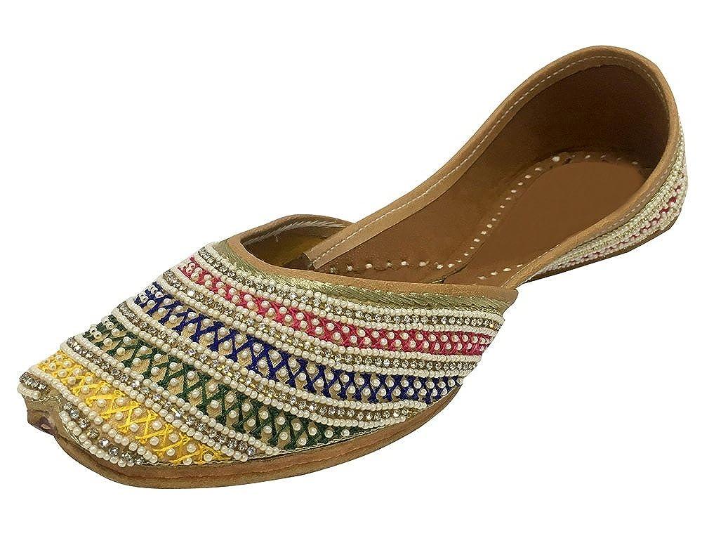 Step n Style Ladies Khussa Shoes Phulkari Jutti Indian Ethnic Salwar Kameez Shoes SS29