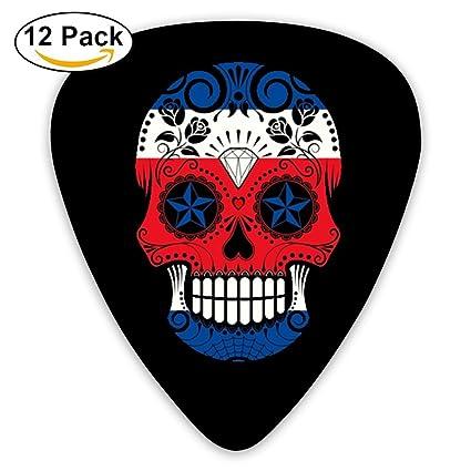 Púas para guitarra de Sugar Skull Roses Costa Rica con diseño de bandera de Costa Rica
