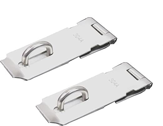 3x Stainless Steel Padlock Hasp Door Lock Hatch Clasp Gate Cabinet Latch