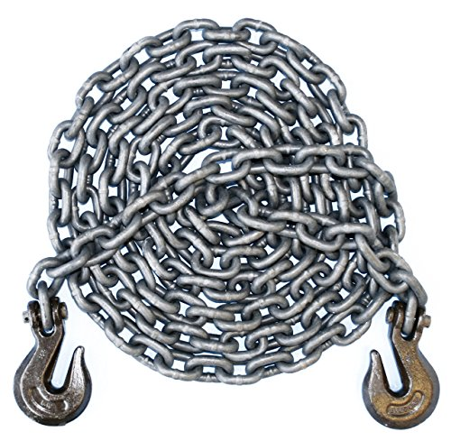 3/8'' - Grade 100 Binder Chain - Grab Hooks - 20' Length by Advantage Rigging