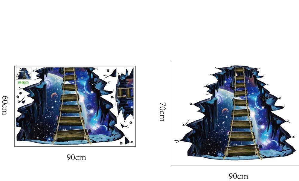 3d Vinyl Fußboden ~ 3d star series boden wandaufkleber removable decals vinyl art room