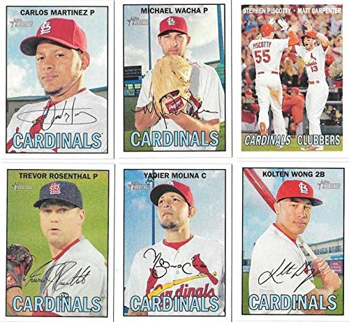(St Louis Cardinals 2016 Topps Heritage Series 16 Card Basic Team Set with Matt Holliday and Yadier Molina Plus)