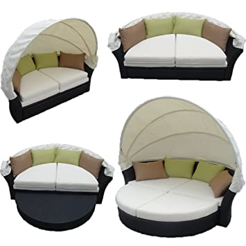 Image Unavailable  sc 1 st  Amazon.com & Amazon.com : Martinique Outdoor Patio Canopy Bed with Hide-Away ...