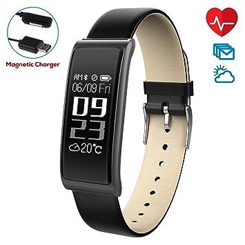 Montre Connectée,CHEREEKI Moniteur de Fréquence Cardiaque Bracelet Fitness Montre Bracelet avec activité Tracker