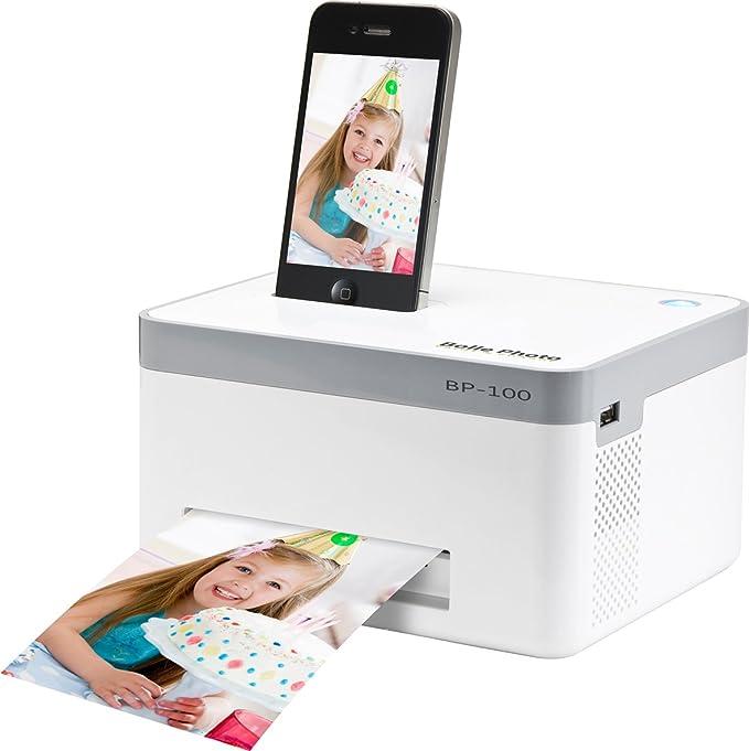 MiPow Bolle Photo BP-100 - Impresora de fotos portátil con docking para Apple iPhone
