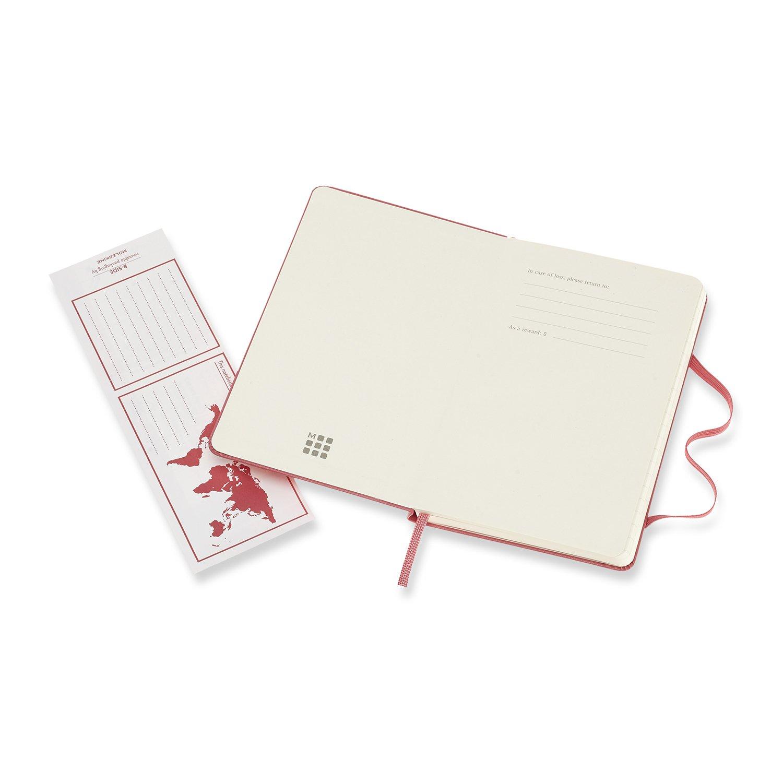 Moleskine - Cuaderno Clásico con Páginas Rayadas, Tapa Dura y Goma Elástica, Color Rosa Margarita, Tamaño Pequeño 9 x 14 cm, 192 Páginas