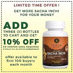 Isula Nature Organic Sacha Inchi Raw Oil 260mg X 100 Sof Gels - Inca Penaut, Omega 3-6-9