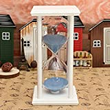 60 Minutes Wooden Frame Sandglass Hourglass Sand Timer Home Decor Gift