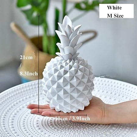 OGAWOO Resina Piña Figuras de la Hucha Modelo de piña Caja de Dinero Miniaturas Decoración de Frutas Decoración casera Creativa, Caja de Dinero Blanca-M: Amazon.es: Hogar