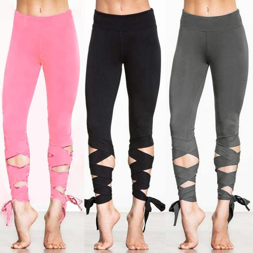 L M Solid Cotton Full Leggings Skinny Pants Stretchable Waistband S