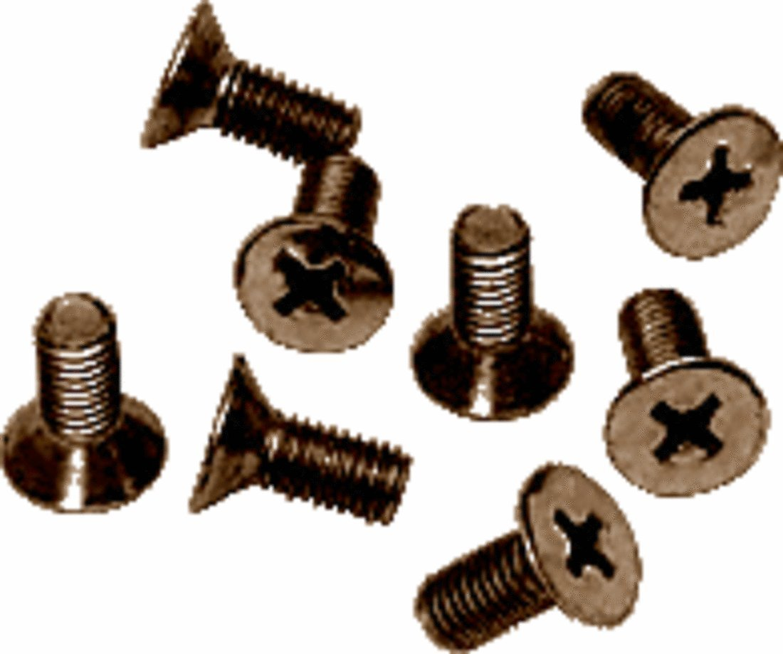 CRL Brushed Bronze Phillips 6 mm x 12 mm Cover Plate Flat Head Screws - Package