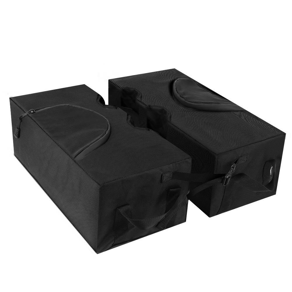 BougeRV 1680D Impermeabile e Staccabile Quadrato a Sbalzo Ombrellone Sacca Base per Ombrellone, Design a Due Pezzi Resistente, UV Eccezionale e Resistenza alle Intemperie, Compatibile con la Maggior Parte Offset, a Sbalzo o All'aperto Portaombrelli con Gra