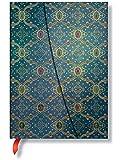 Carnet Midi PAPERBLANKS série Splendeur de la Soie modèle Bleu