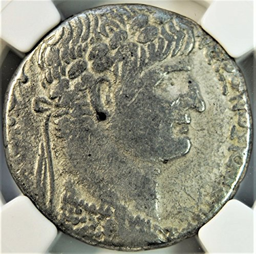 IT 54-68 AD Ancient Imperial Rome under Roman Emperor Nero Antique Silver Coin Tetradrachm Very Fine NGC