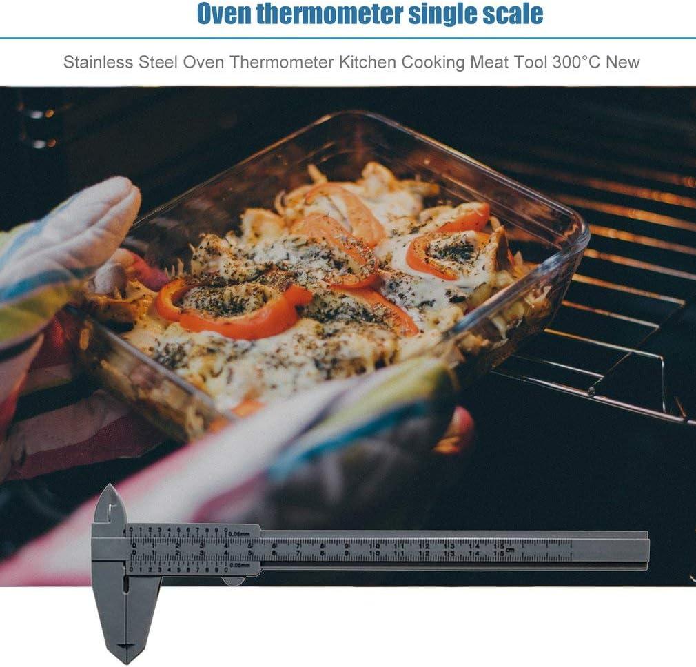 Kitechildheed Acier Inoxydable Thermom/ètre Four Cuisine Cuisine Viande Outil 300 /° C Nouvel Argent