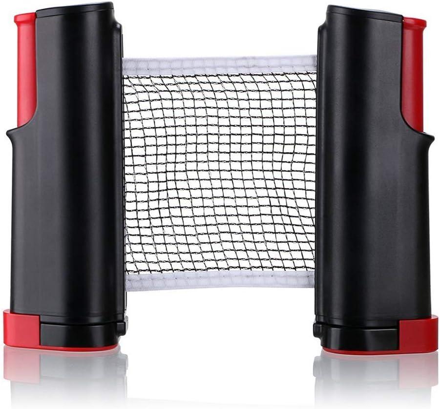 Table Tennis Net Rack/Reemplazo Accesorios de Tenis de Mesa/Reemplazo portátil de Red retráctil - Adecuado para Tenis de Mesa Mochila de Tenis de Mesa,Black