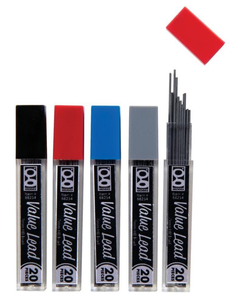 Raymond Geddes valor lápiz mecánico recambios, 0,7mm,...