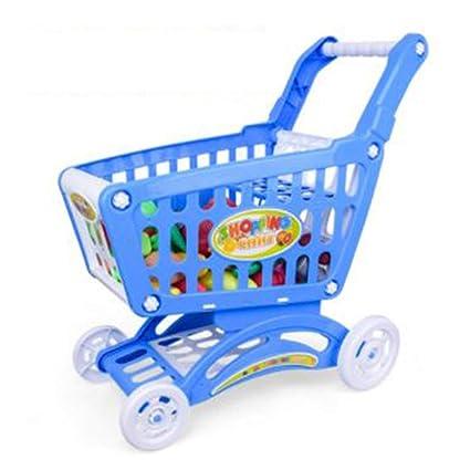 Delicacydex Supermercado Grande para niños Carrito de Compras Juguetes - Azul