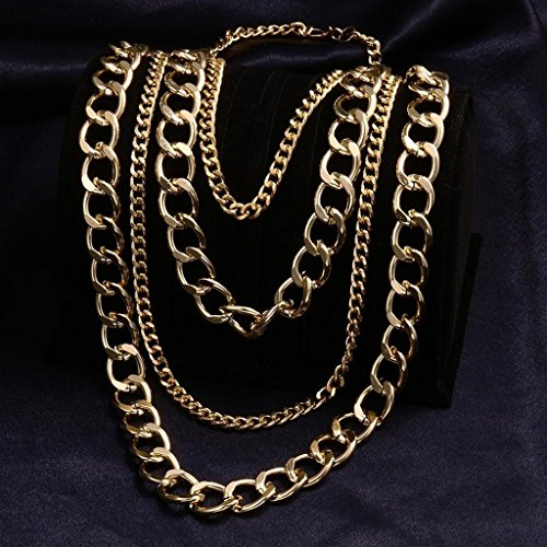AMDXD Jewelry White Gold PlatedWomen's Sweater Necklace Gold Link Chain Pendants