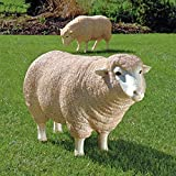 Design Toscano Merino Ewe Life Size Head Up Sheep Statue For Sale