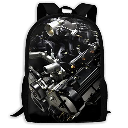 b7cc348c53b2 Amazon.com: Twinkprint 3D Print Unisex Backpack - Cool Engine ...