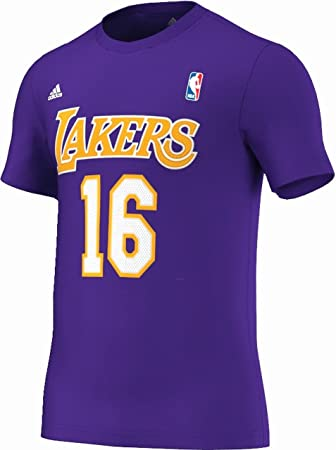 Camiseta adidas - Nba Gametime Tee Los Angeles Lakers Gasol Morado L: Amazon.es: Deportes y aire libre