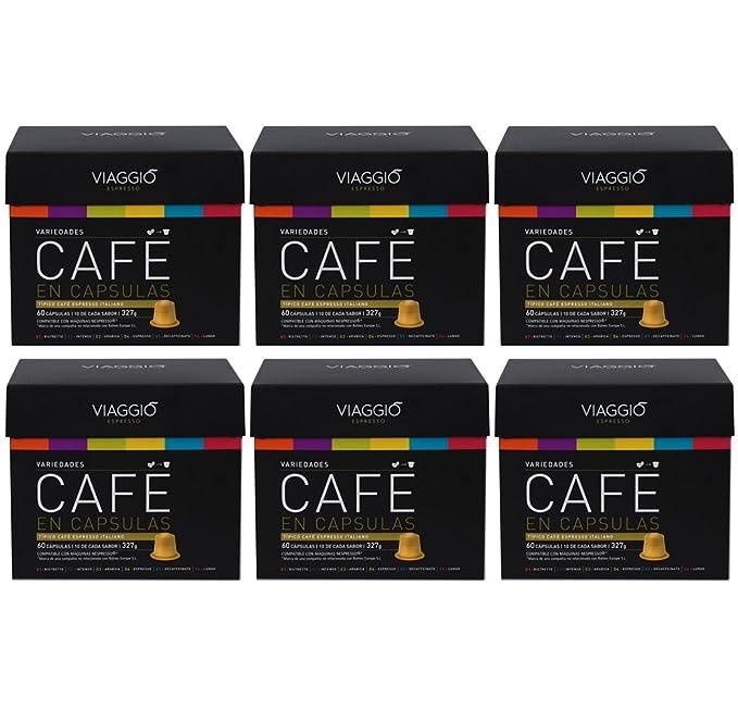 VIAGGIO ESPRESSO - 360 Cápsulas de Café Compatibles con Máquinas Nespresso - PACK PREMIUM
