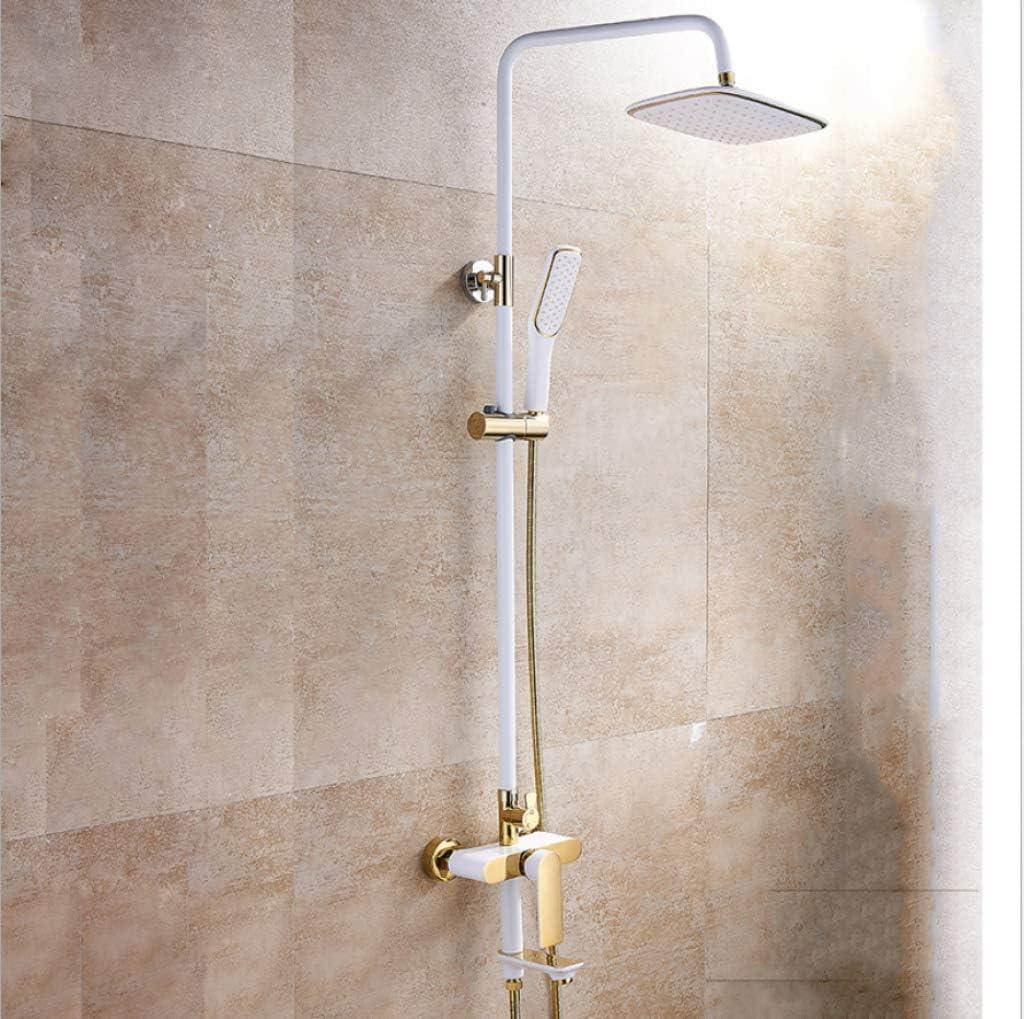WVX - Juego de Ducha para baño, Kit de Ducha de Oro Blanco, Grifo ...