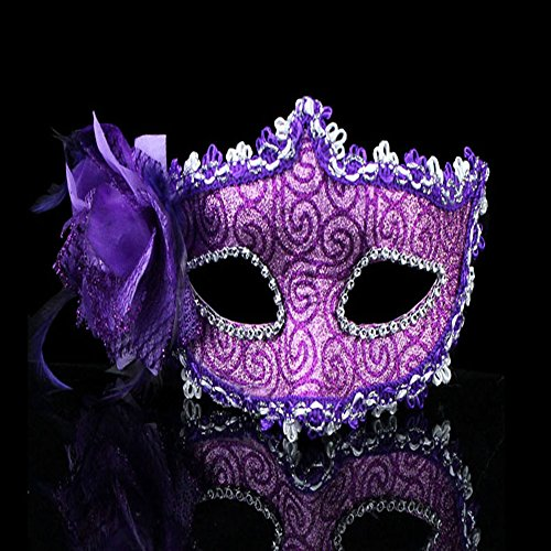 [KAKA(TM) Mask Costume Cosplay Ball Dancing Party [Halloween] Princess Masks Facial Masquerade Glitter - Grace] (Party Glitters Costumes)