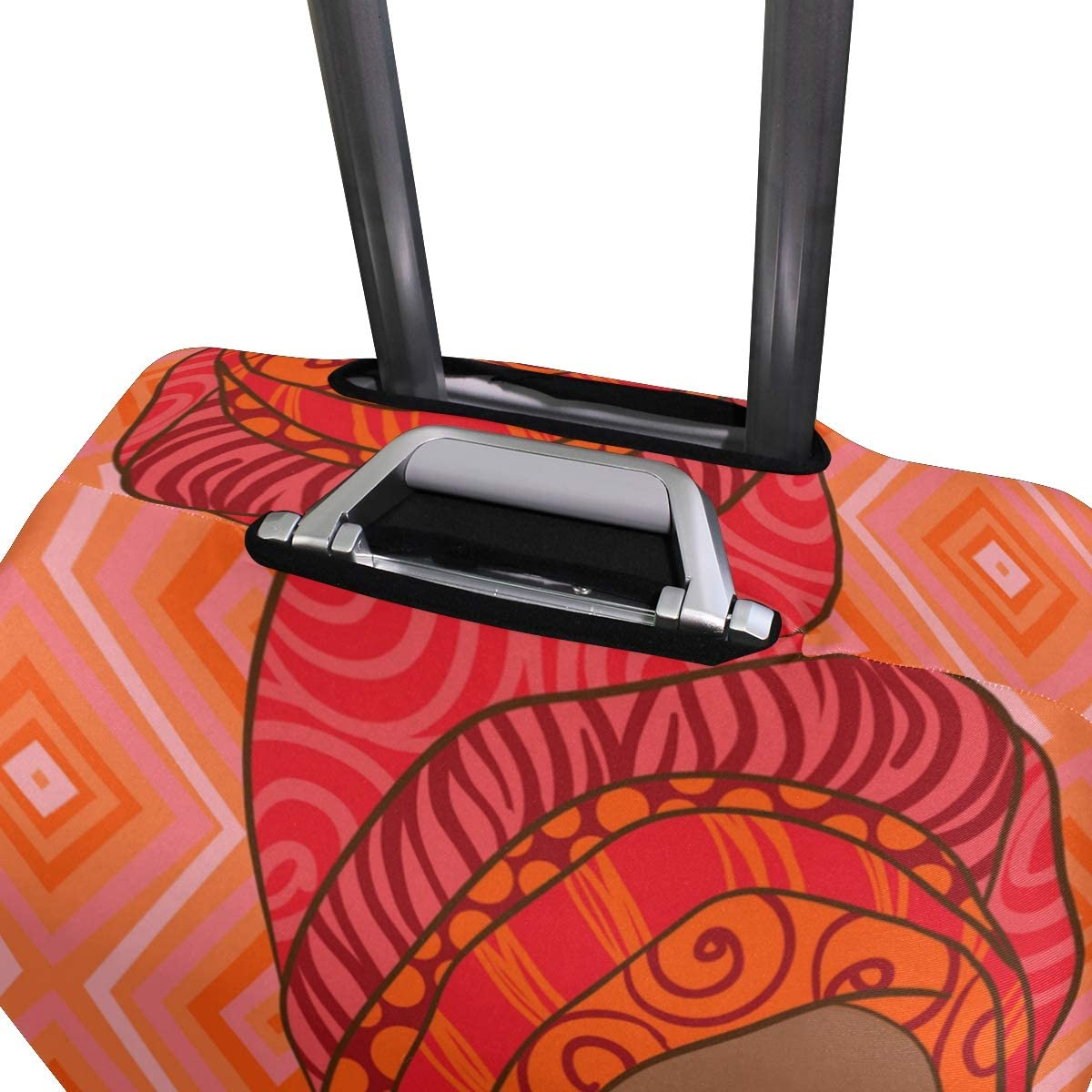 Baggage Covers African Black Women Paint Gemeotric Washable Protective Case