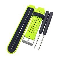 MagiDeal Fascia Da Polso Intelligente Ricambio Sostituzione Cinturino Smart Watch Gomma Silicone - Lime Nero