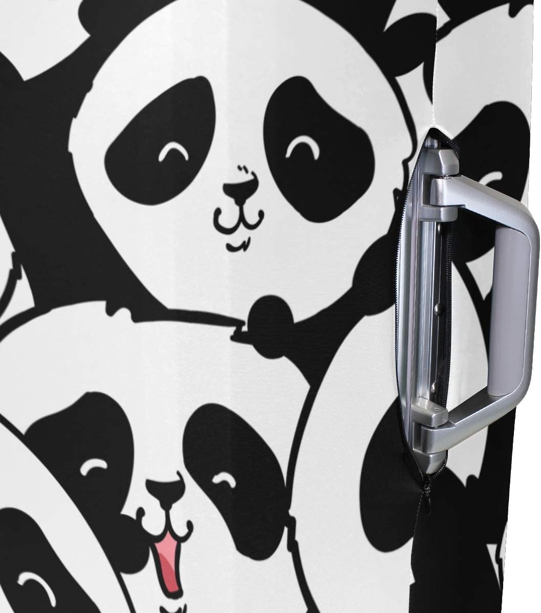 FOLPPLY Panda Pattern Luggage Cover Baggage Suitcase Travel Protector Fit for 18-32 Inch