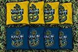 Victory Tailgate 8 US Navy Chief Anchor Regulation Corn Filled Cornhole Bags