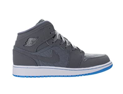 aa7ac8b0916600 ... Air Jordan Girls AJ 1 Phat Hyper Blue Big Kids 454659-009 (GS) ...
