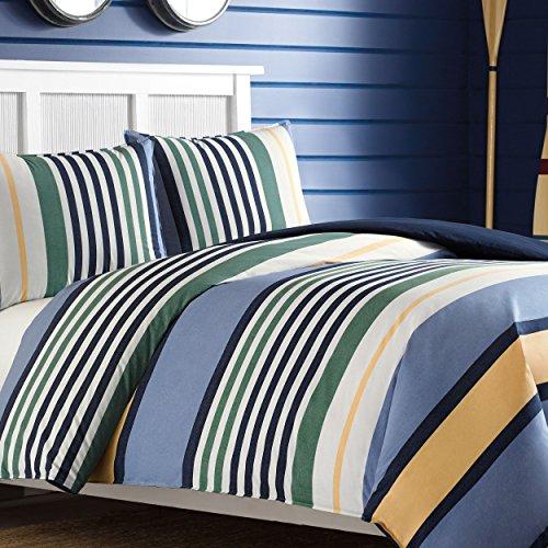 - Nautica Dover Cotton Comforter Set, Full/Queen, Blue