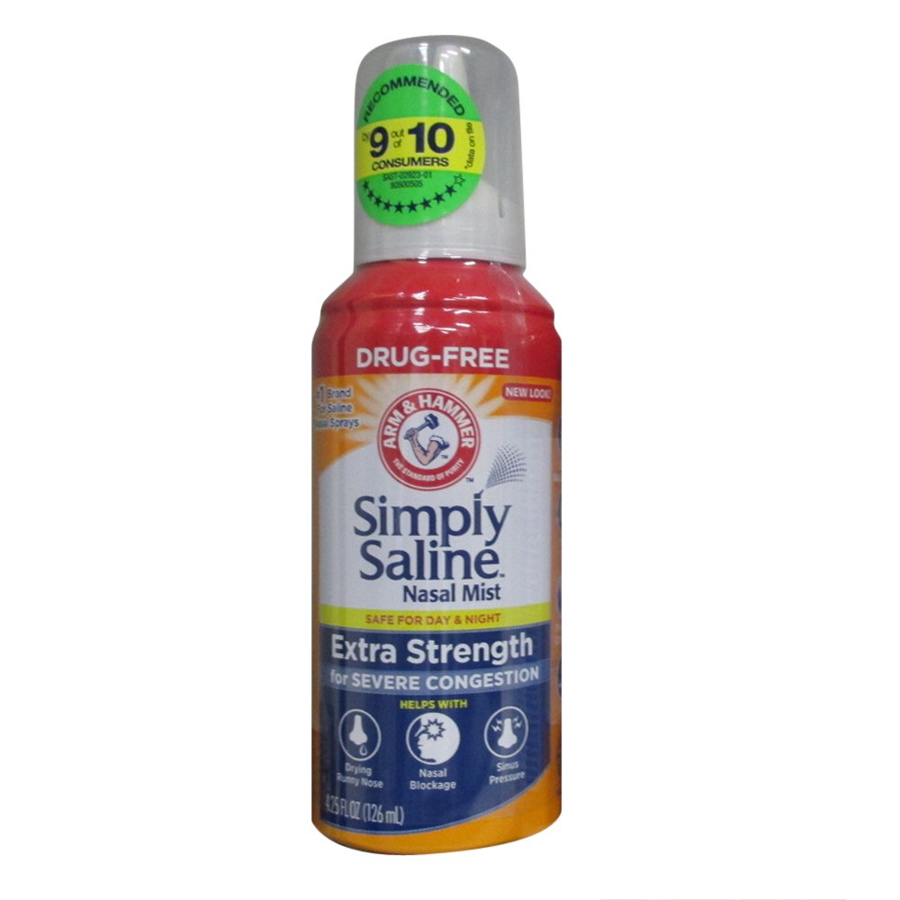 Simply Saline Nasal Mist Extra Strength Severe Congestion 4.25 oz (Pack of 6) by Simply Saline