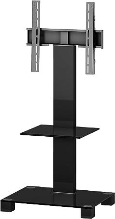 Elbe PL-2515-B-HBLK- Mueble Soporte para TV Vertical, 60 x 50 x 92 cm, Color Cristal y Plata: Amazon.es: Electrónica