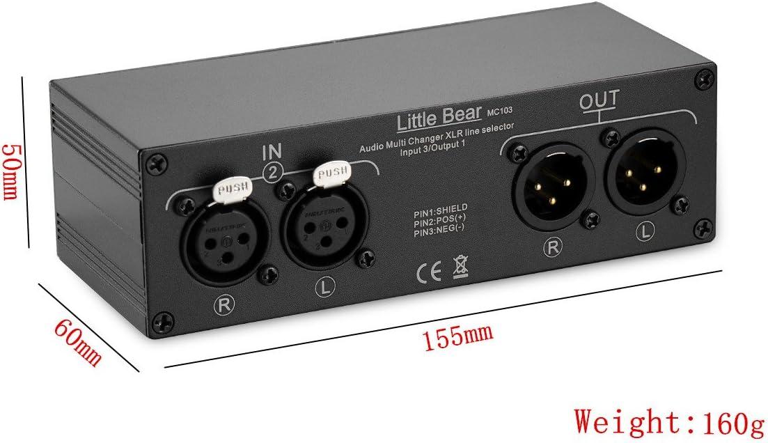 nobsound Little Bear (1) de 3 en 1 (3) de Out XLR Balance Stereo Audio Switcher Selector pasiva Splitter Caja: Amazon.es: Electrónica