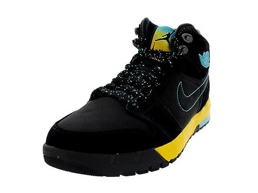 Nike Jordan Men's Air Jordan 1 Trek Black/Gamma Blue/Varsity Maize Boot 9.5