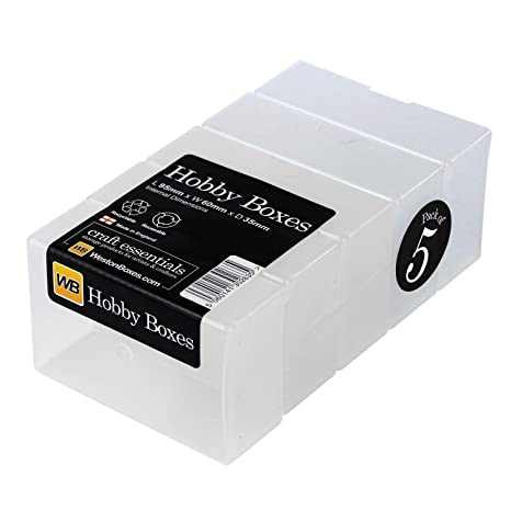 Black, Pack of 5 WestonBoxes A4 Plastic Craft Storage Boxes