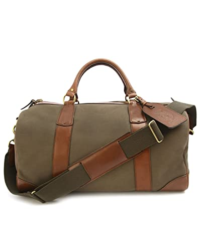 2afa2257f813 POLO Ralph Lauren - Overnight Bags - Men - Khaki Leather and Canvas Weekend  Bag for
