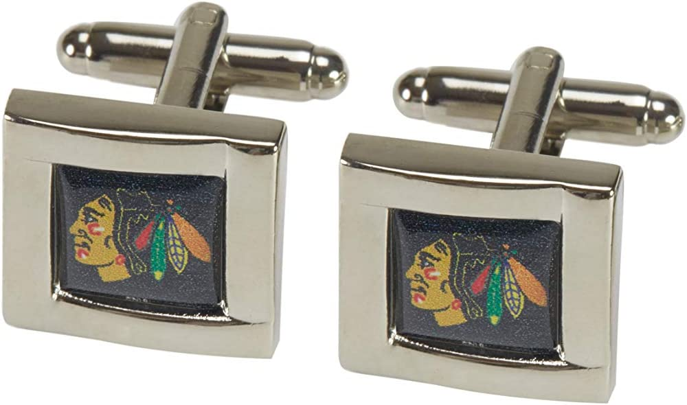 NHL Chicago Blackhawks Square Cuff Links