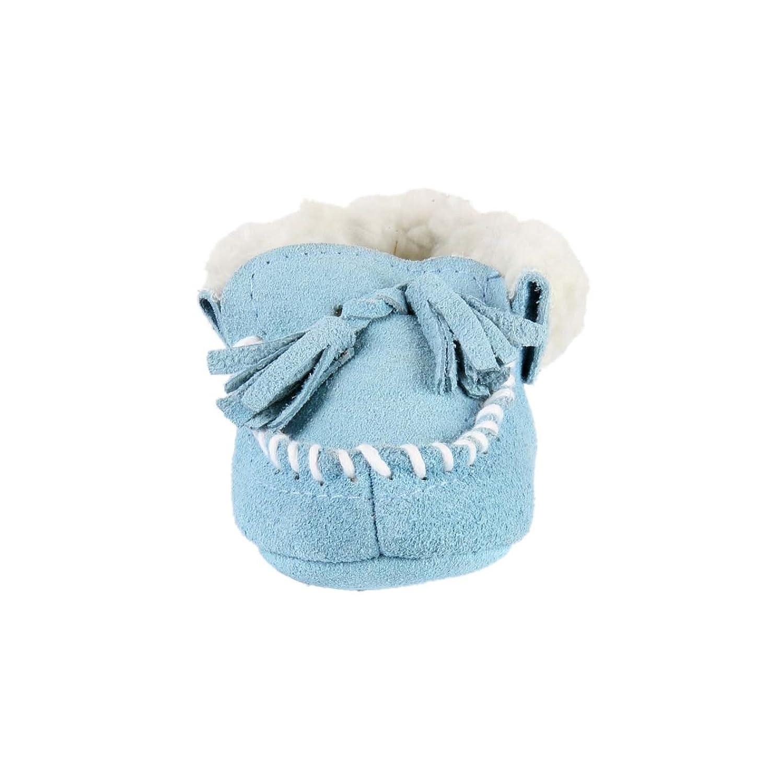 Chausson en cuirintérieur fourré - garçon - bleu w6xZM