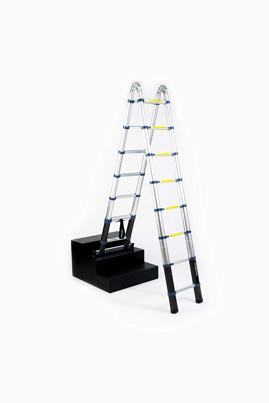 WORHAN/® Echelle 5.6m T/élescopique Aluminium Anodis/é Modulable Pliable Polyvalente Escabeau Solide 560cm Sac De Transport K5.6+bag