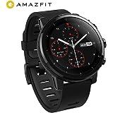 Amazfit Stratos 2 Smartwatch, Huami Reloj Inteligent con GPS, Funciona con iOS y Android (Negro)